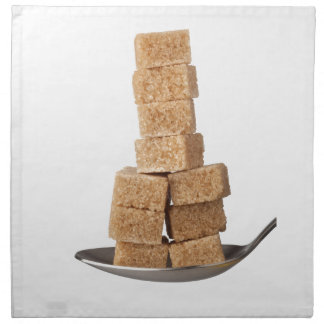 Brown sugar cubes napkin