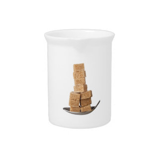 Brown sugar cubes pitcher