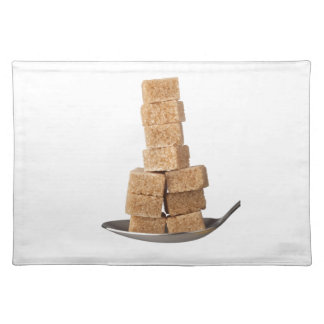 Brown sugar cubes placemat