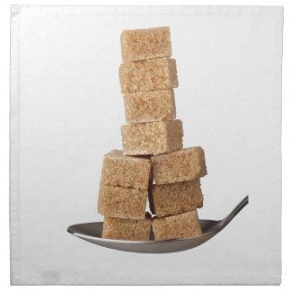 Brown sugar cubes printed napkin