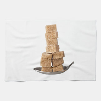 Brown sugar cubes tea towel