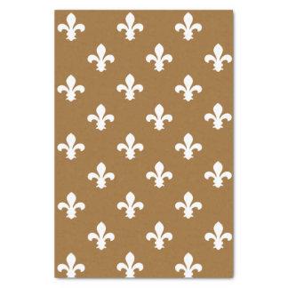 Brown Sugar Neutral Fleur de Lys Tissue Paper