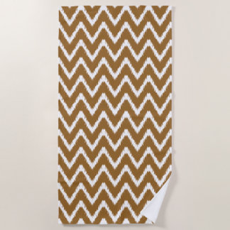 Brown Sugar Southern Cottage Chevrons Beach Towel