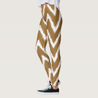 Brown Sugar Southern Cottage Chevrons Leggings