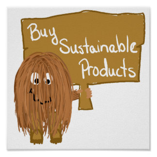 Brown sustainable products poster