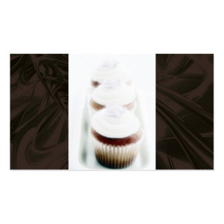 Brown Swirl Cupcake Business Cards