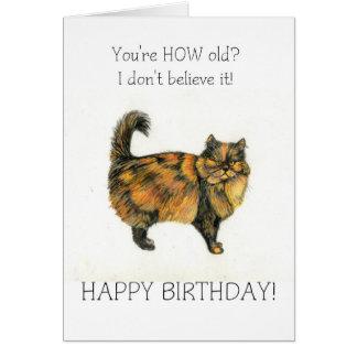 Brown Tabby Cat Birthday Card