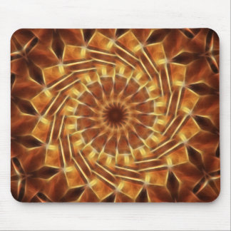 Brown Tan Gold Kaleidoscope Art 1 Mouse Pad