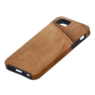 Brown Tan Leather Look Texture iPhone Case