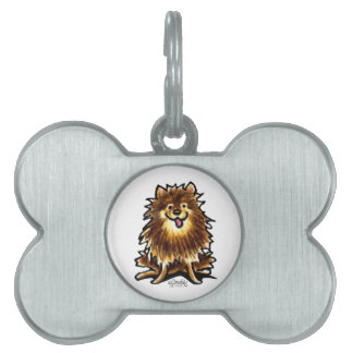 Brown Tan Pomeranian Pet Tag