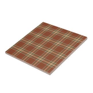 Brown Tartan Ceramic Tile