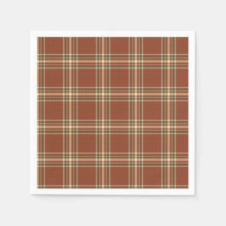 Brown Tartan Paper Napkins