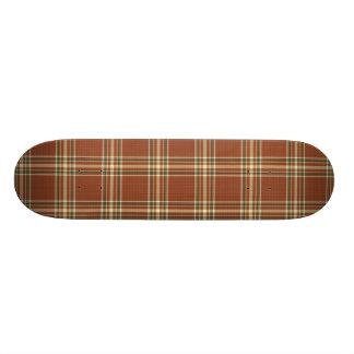 Brown Tartan Skateboard