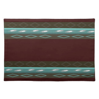 Brown & Teal Blue Place Mat