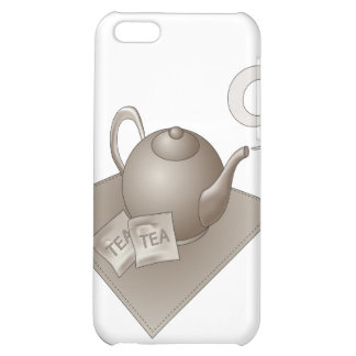 Brown teapot with abstract steam iPhone 5C cases
