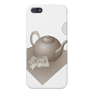 Brown teapot with abstract steam case for the iPhone 5