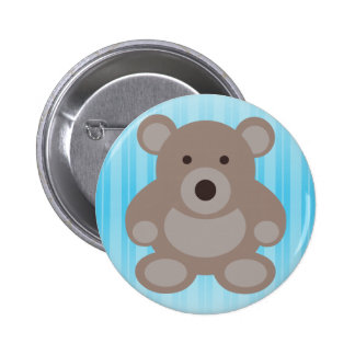 Brown Teddy Bear 6 Cm Round Badge
