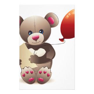 Brown Teddy Bear Customised Stationery