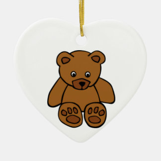 Brown Teddy Bear Christmas Tree Ornaments