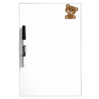 Brown Teddy Bear Dry Erase Boards