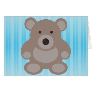 Brown Teddy Bear Greeting Card