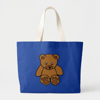 Brown Teddy Bear Large Tote Bag