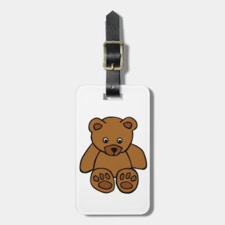 Brown Teddy Bear Luggage Tag