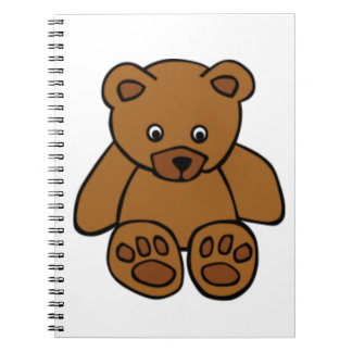 Brown Teddy Bear Notebooks