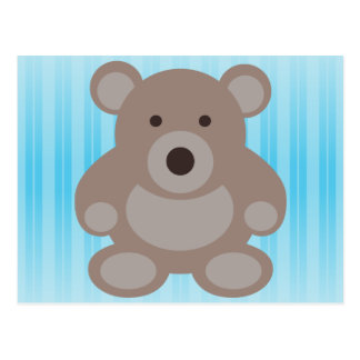Brown Teddy Bear Post Card