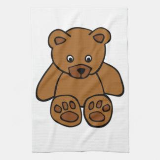 Brown Teddy Bear Tea Towel