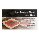 Brown/Terra Cotta Navajo Pattern Business Card Templates