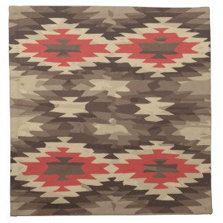 Brown/Terra Cotta Navajo Pattern Napkin
