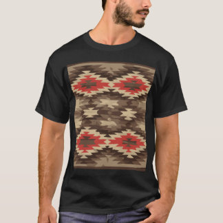 Brown/Terra Cotta Navajo Pattern T-Shirt