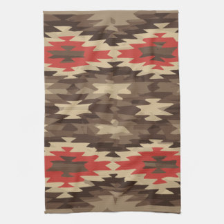 Brown/Terra Cotta Navajo Pattern Tea Towel