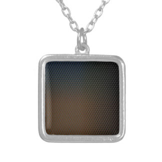 Brown Texture Silver Plated Necklace