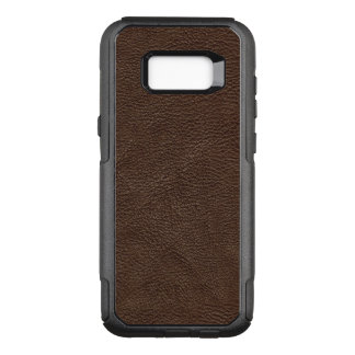 Brown Textured Leather Pattern OtterBox Commuter Samsung Galaxy S8+ Case