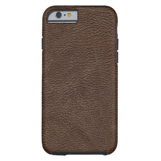 Brown Textured Leather Tough iPhone 6 Case
