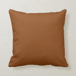 "Brown Throw Pillow - ""Customisable"""