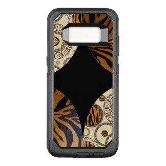 Brown Tiger Pattern Design OtterBox Commuter Samsung Galaxy S8 Case