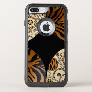 Brown Tiger Print Pattern Design OtterBox Commuter iPhone 8 Plus/7 Plus Case