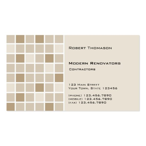 Brown Tile Business Card