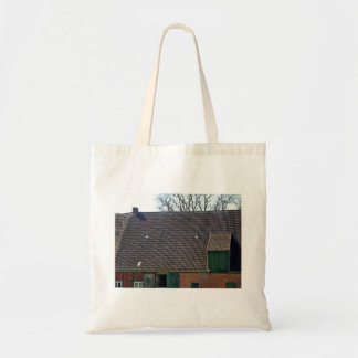 Brown Tile Roofing Of Brick House Tote Bag
