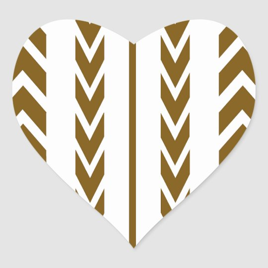 Brown Tire Tread Heart Sticker