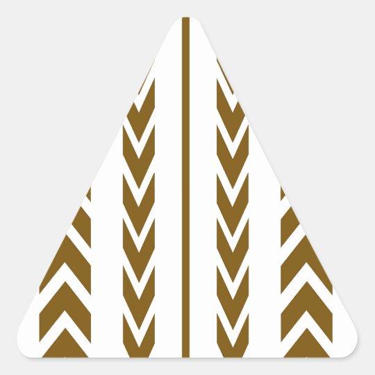 Brown Tire Tread Triangle Sticker