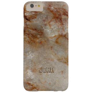 Brown Tones Marble Stone Pattern Barely There iPhone 6 Plus Case