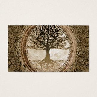 Brown Tree of Life Pattern