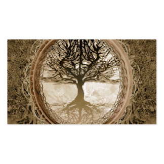 Brown Tree of Life Pattern Pack Of Standard Business Cards
