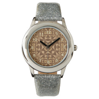 Brown trendy pattern watches