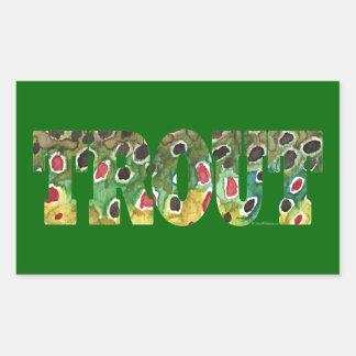 Brown Trout Design Rectangular Sticker