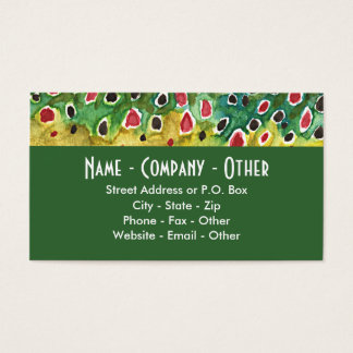 Brown Trout Fishing Business Card